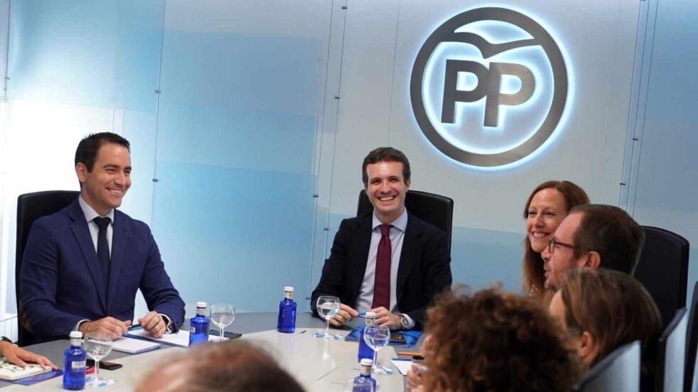 Pablo Casado durante la reunión del comité de dirección de este lunes
