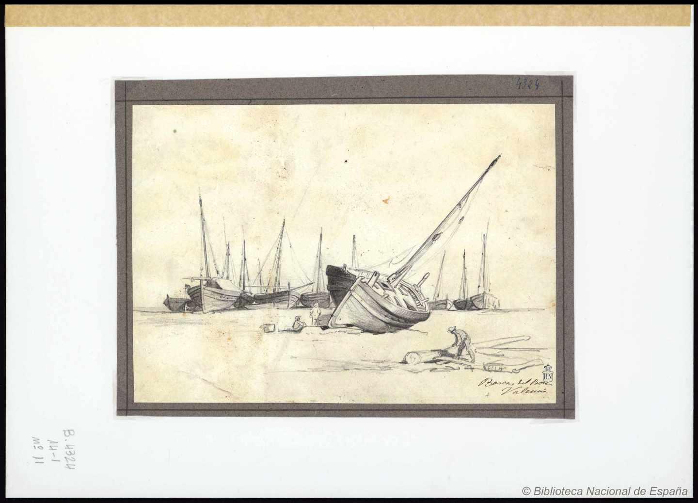Barcas de Bou. Valencia. 1863-1899. Rafael Monleón y Torres