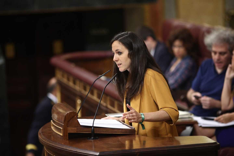 Ione Belarra (Podemos), en la tribuna del Congreso.