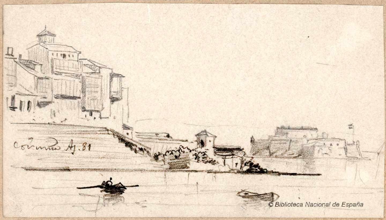 Coruña. 1881. Rafael Monleón y Torres