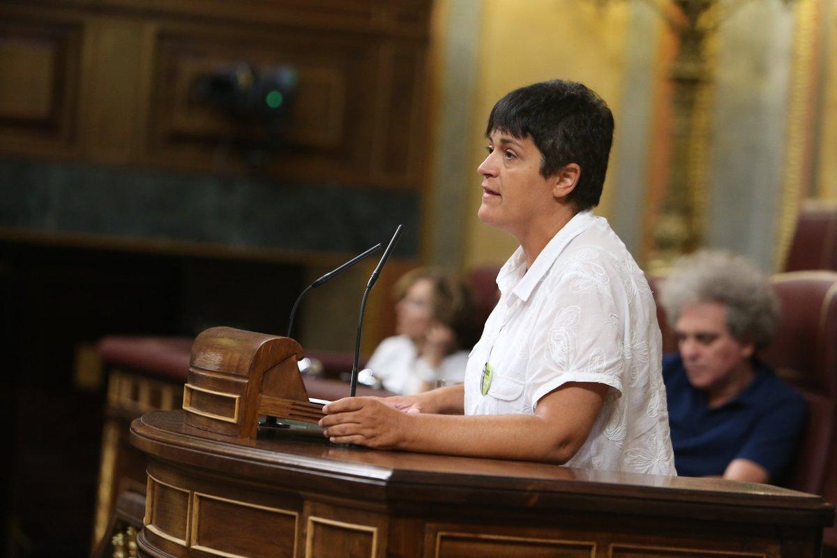 La diputada de EH Bildu, Marian Beitialarrangoitia. durante una intervención en el Congreso de los Diputados.