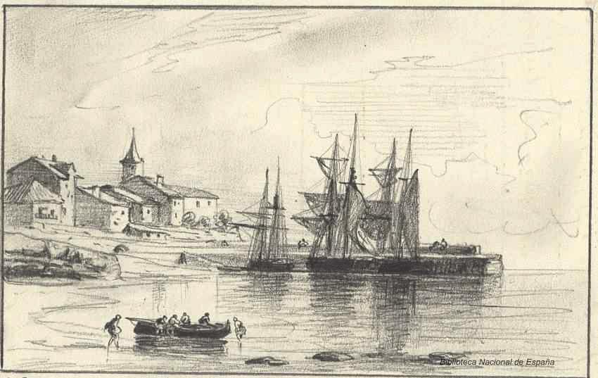 El Puerto de Luanco. 1874. Rafael Monleón y Torres