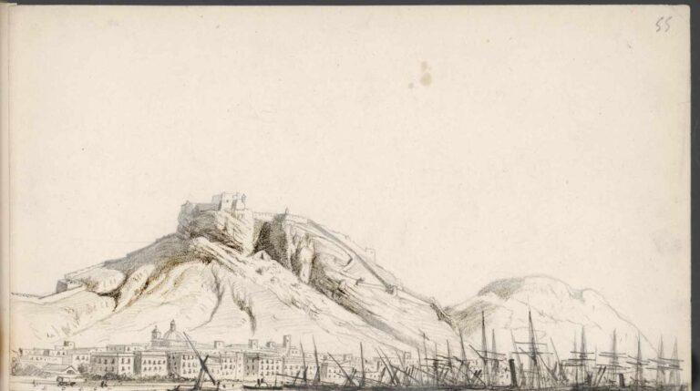 El puerto de Alicante. 1873. Rafael Monleón y Torres