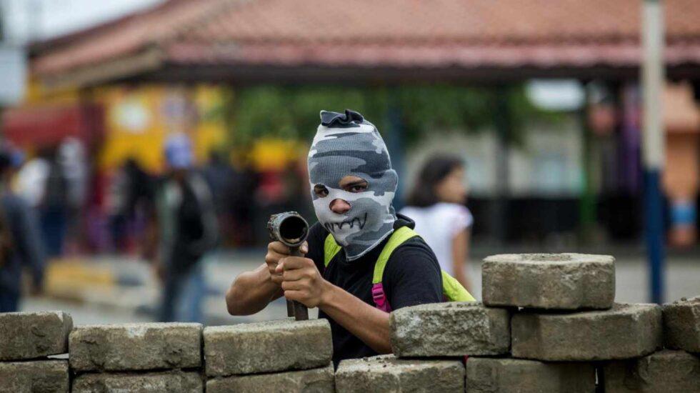 Enfrentamientos en Nicaragua. EFE.