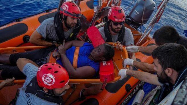 Marc Gasol, durante el rescate con Open Arms.