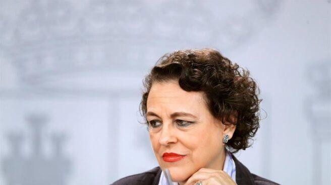 La titular de Trabajo, Magdalena Valerio, al término de la última reunión del Consejo de Ministros.
