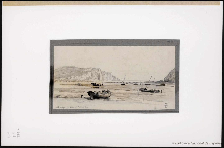 La playa de Laredo. 1873. Rafael Monleón y Torres