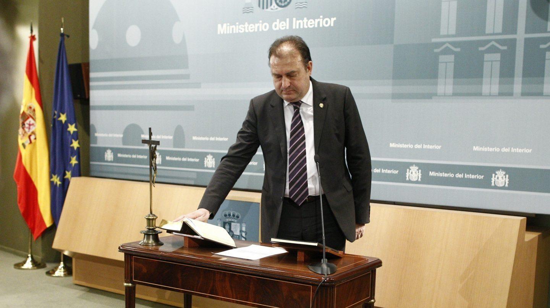 El comisario principal José Luis Olivera, cuando juró el cargo del director del CITCO.