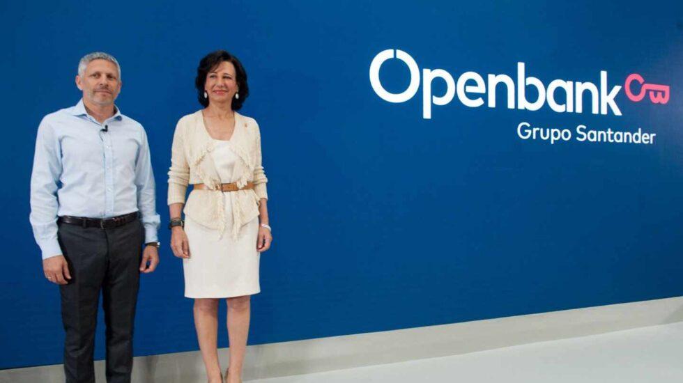 Ezequiel Szafir, consejero delegado de Openbank, y Ana Botín, presidenta de Santander.
