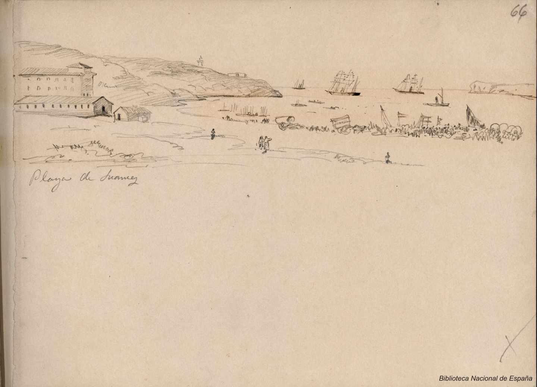 Playa de Suances. 1843-1899. Rafael Monleón y Torres