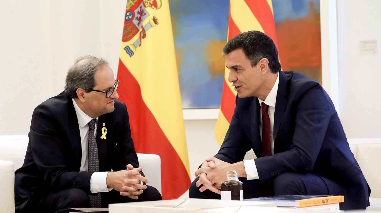 Quim Torra y Pedro Sánchez, en la Moncloa.
