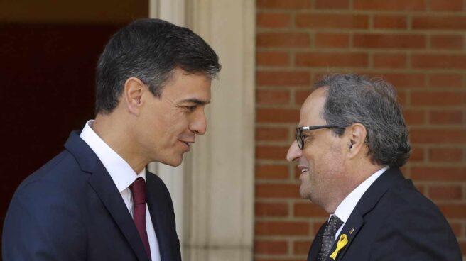 Pedro Sánchez y Quim Torra, en Moncloa.