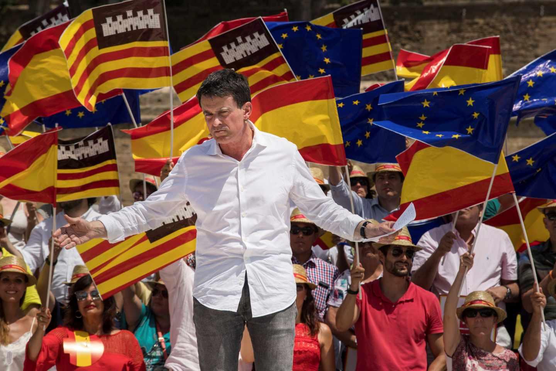El ex primer ministro francés Manuel Valls, en un acto de Ciudadanos en Palma de Mallorca.