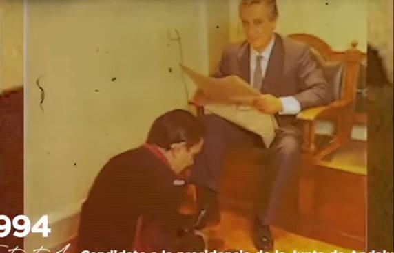 Javier Arenas, en un fotograma del vídeo.