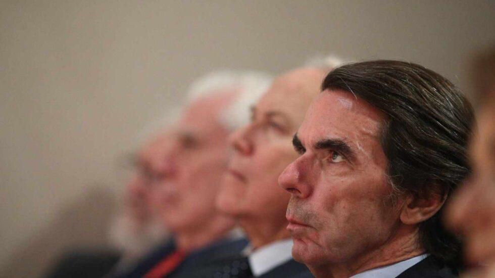 José María Aznar el pasado junio en una conferencia del Instituto Atlántico de Gobierno.