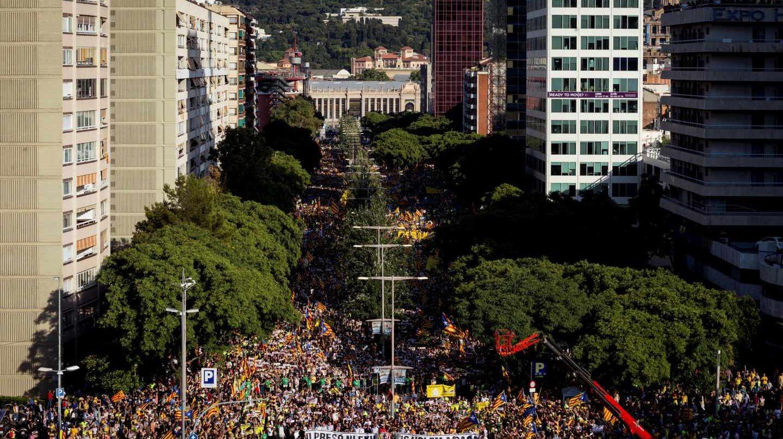 Manifestación por la libertad de los presos en Cataluña.