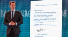 Carta pidiendo la asistencia al acto de Pablo Casado