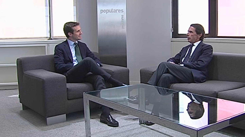 Pablo Casado y José María Aznar