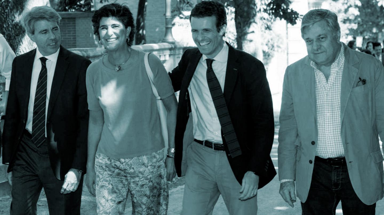 Pablo Casado, con María San Gil, Angel Garrido y el padre de Leopoldo López.