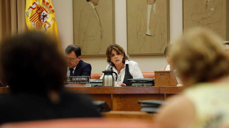 La ministra Dolores Delgado, en el Congreso.