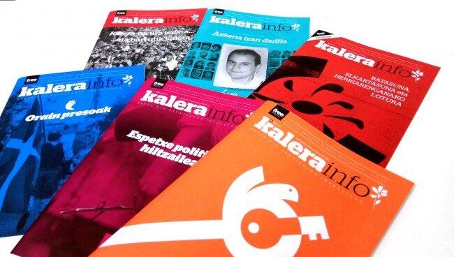 Imagen de los números de la revista 'Kalerainfo' editados hasta el momento.