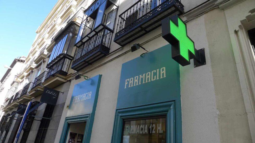 Fachada de una farmacia.