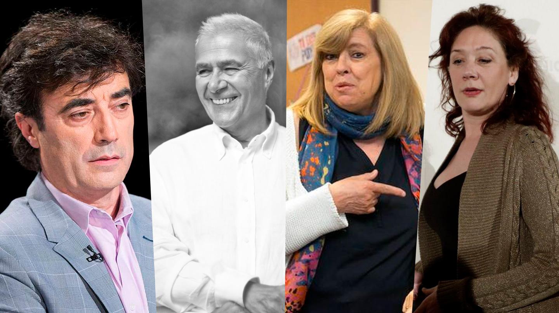 Tomás Fernando Flores, Fernando López Agudín, Rosa María Artal y Cristina Fallarás