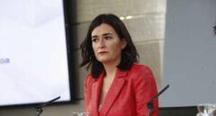 Carmen Montón, ministra de Sanidad, tras el Consejo de Ministros en el que se ha aprobado el Real Decreto de Universalización de la Sanidad.