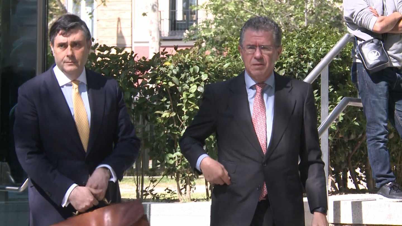 Granados acude a la Audiencia Nacional a declarar sobre la trama Púnica, el pasado mes de abril.