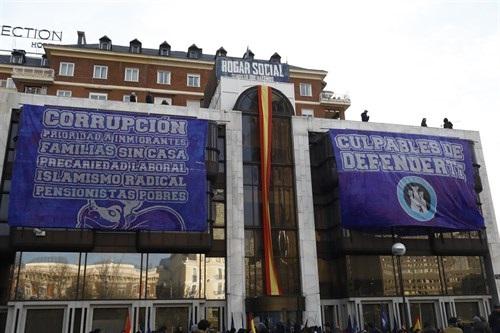 Edificio ocupado por Hogar Social Madrid.