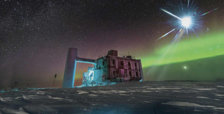 Instalaciones de IceCube en la Antártida