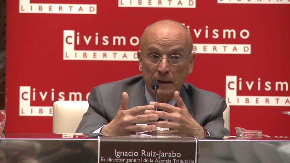 El ex director de la Agencia Tributaria, Ignacio Ruiz-Jarabo, en una conferencia del think tank Civismo.