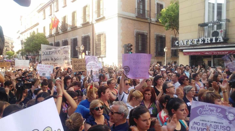 Protestas contra La Manada.