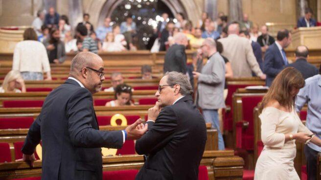 El presidente de la Generalitat Quim Torra, en el Parlament.