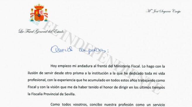 Carta de presentación de la Fiscal General del Estado
