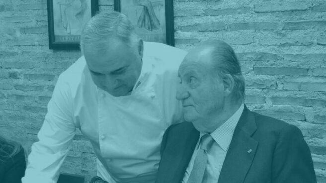 Don Juan Carlos, en un restaurante de Madrid.