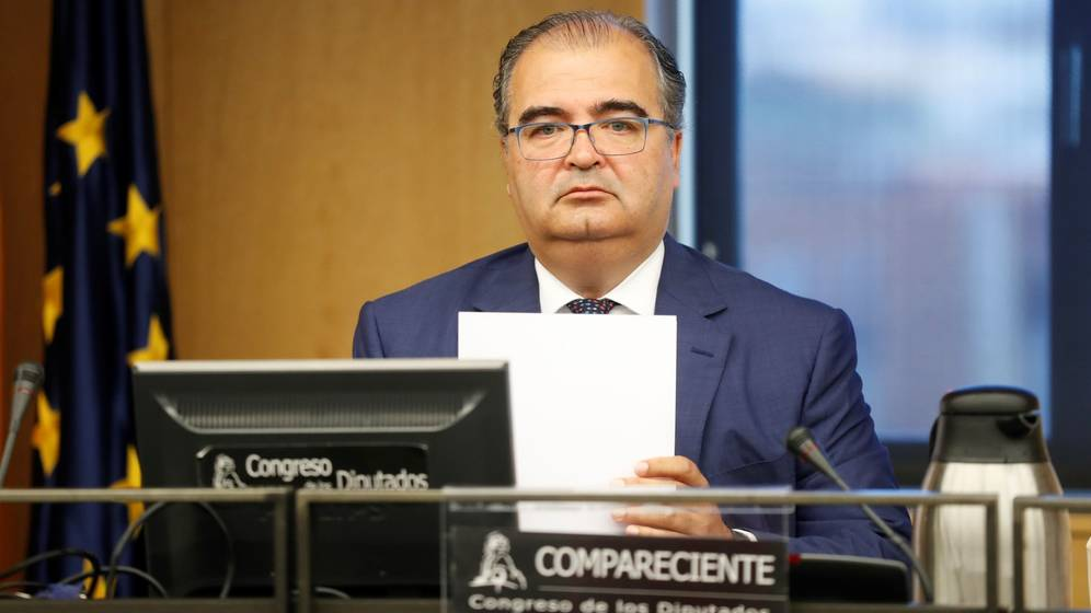 Ángel Ron, ex presidente de Banco Popular, en el Congreso