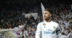 Sergio Ramos durante un partido.