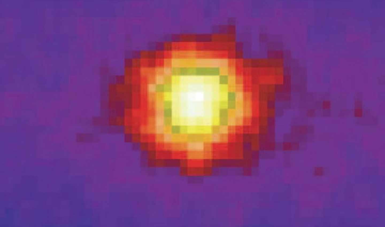 Imagen nocturna del Sol obtenida en el Superkamiokande