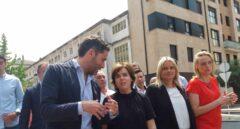 Soraya Sáenz de Santamaría, acompañada de Mari Mar Blanco y cargos del PP vasco en un homenaje a Miguel Ángel Blanco.