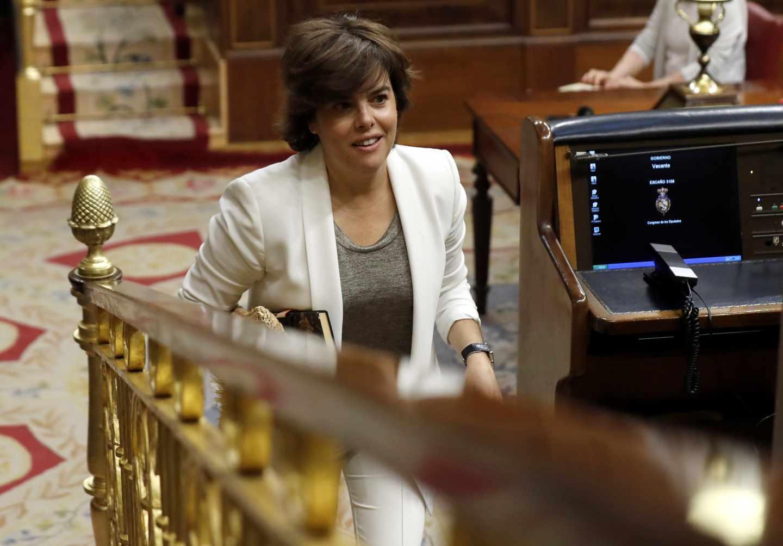 La ex vicepresidenta del Gobierno Soraya Sáenz de Santamaría.