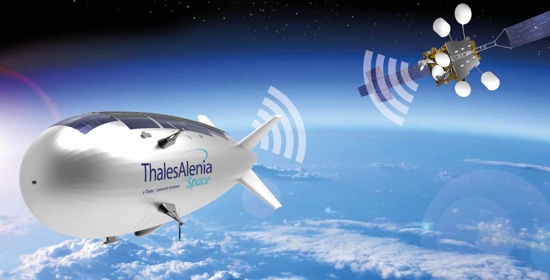 Rénder del dron-satélite Stratobus