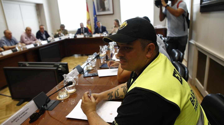 Reunión entre Fomento y las asociaciones de taxistas. En la imagen, Tito Álvarez, de Élite Taxi.