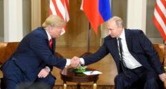 Donald Trump y Vladimir Putin en Hensilki