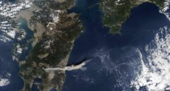 Imagen de satélite del sur de Japón
