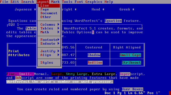 Qué bonito era el WordPerfect 5.1