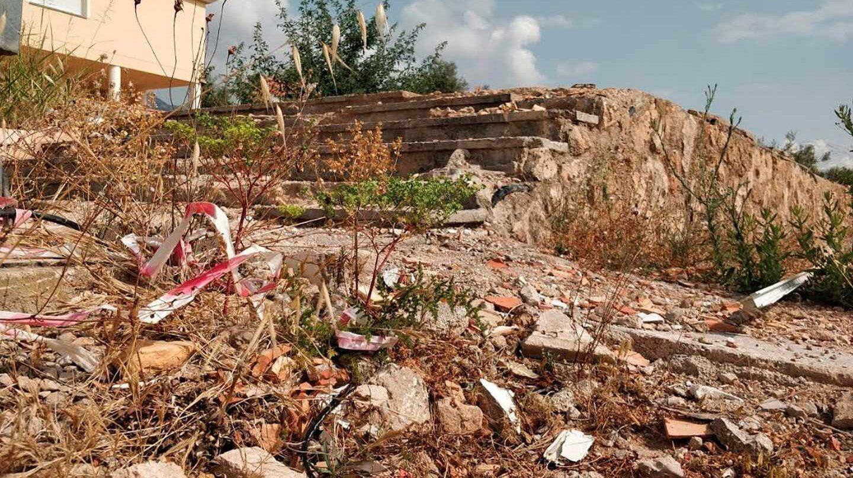 Estado en el que quedó la casa de Alcanar (Tarragona
