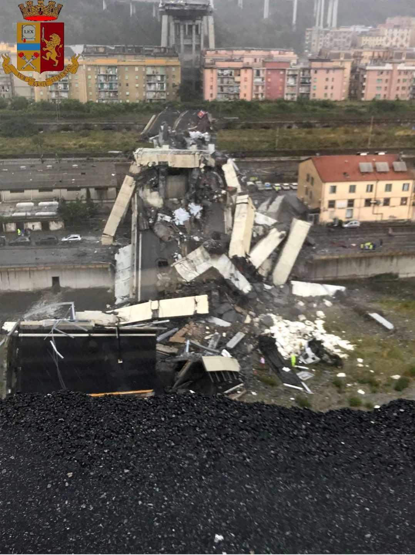 Vista aérea del lugar del derrumbe