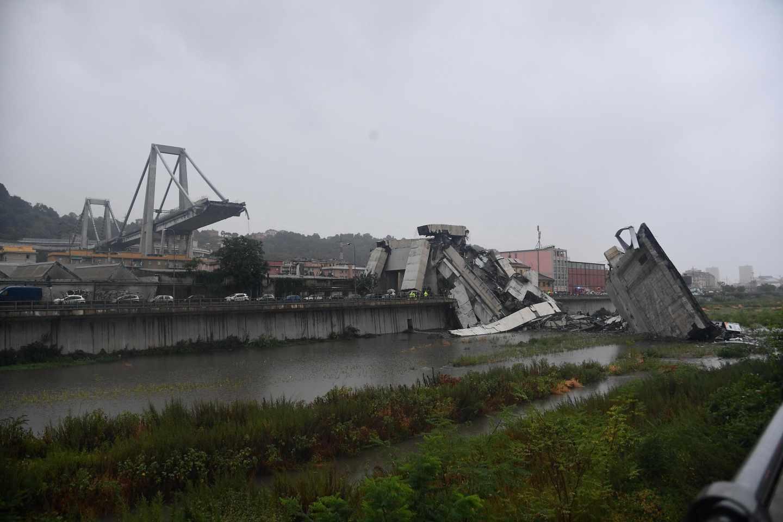 Se desploma el puente Morandi en Génova