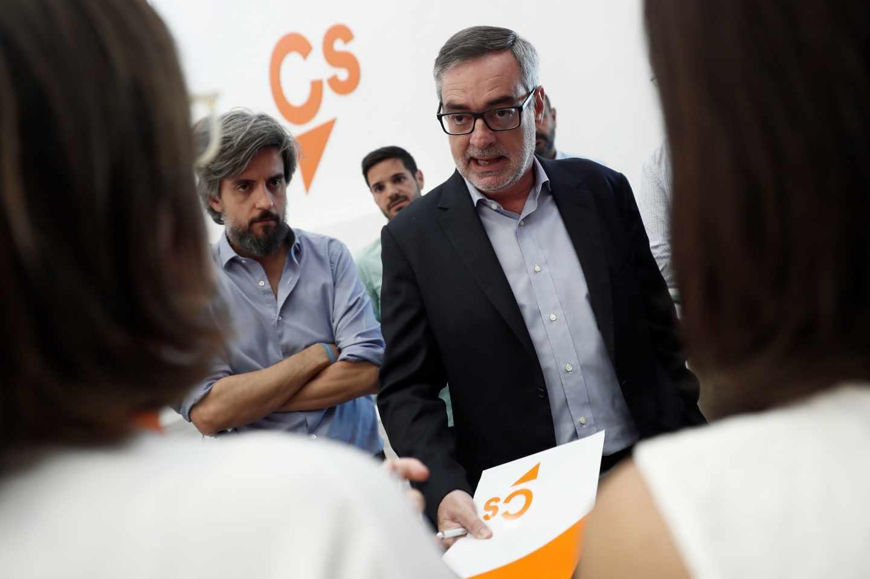 José Manuel Villegas, vicesecretario general de Ciudadanos, en la sede del partido.